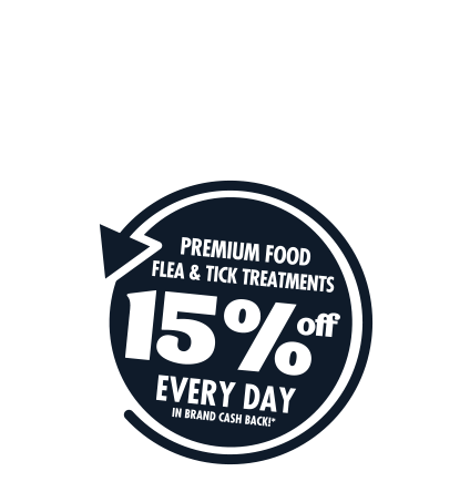 PETstock Rewards - 15% OFF Premium Food Flea & Tick Treatments Every Day in Brand Cash Back!*