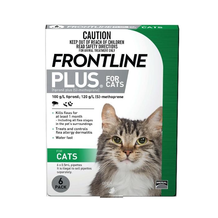 FRONTLINE PLUS 6pk flea treatment for cats