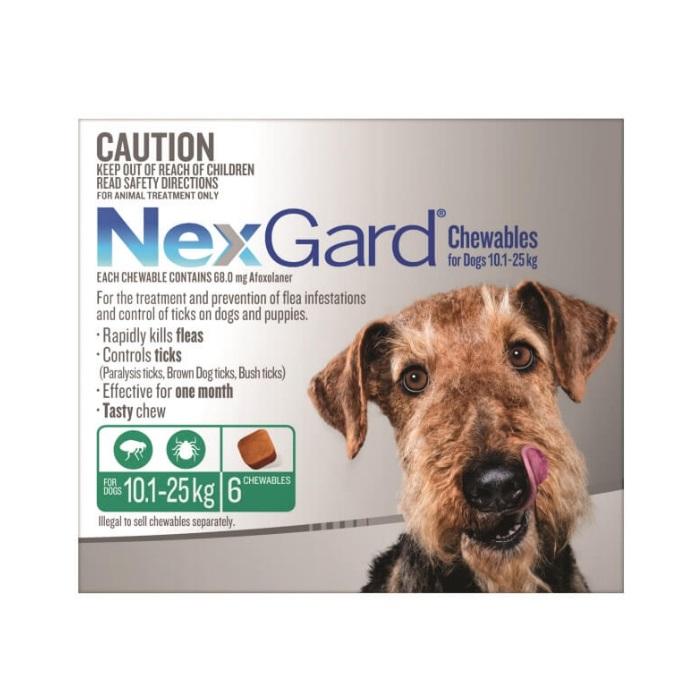 NexGard 6pk Dog Range