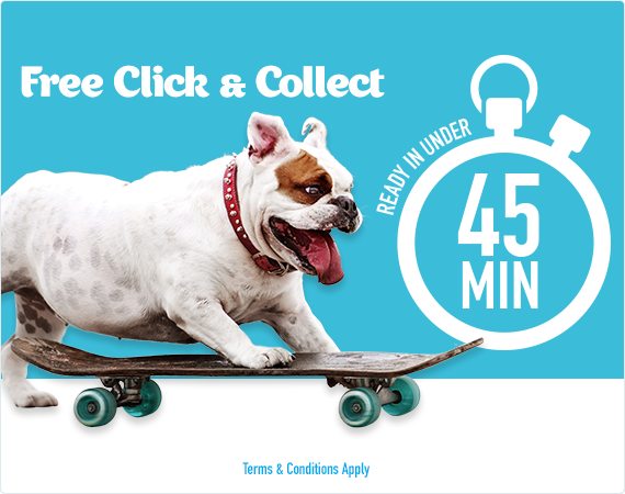 Click and collect your order in 45 minutes!