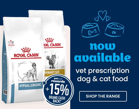 Now Available Vet Prescription Dog & Cat Food. Shop the range now!