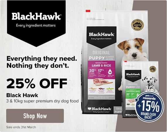 25% OFF Black Hawk 3-10kg super premium dry dog food
