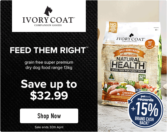 Ivory Coat - Feed Them Right - grain free super premium dry dog food range 13kg - Save up to $23.99