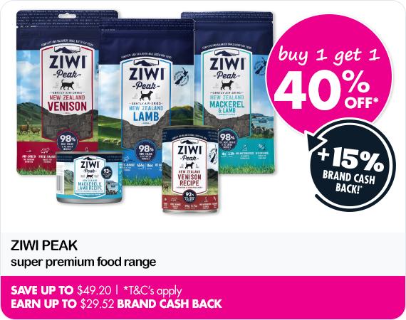 Ziwi Peak super premium food range - buy 1 get 1 40% 0ff