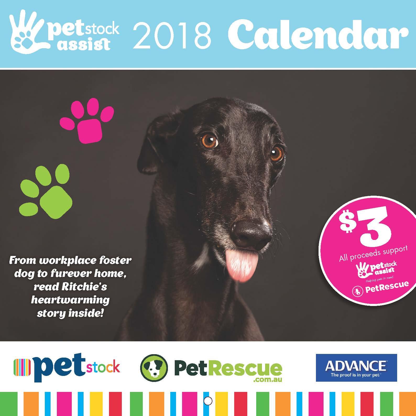 2018 PETstock Assist Calendar only $3