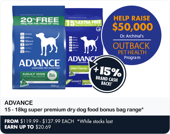 Help Raise $50,000 for Dr Archinal's Outback Pet Health by buying Advance