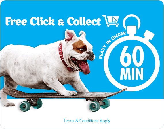 Free Click & Collect - Ready in under 60 minutes. Terms & Conditions apply.