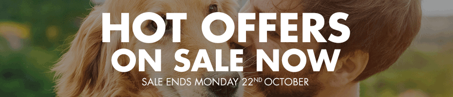 HOT OFFERS ON SALE NOW - Sale ends Monday 22nd October