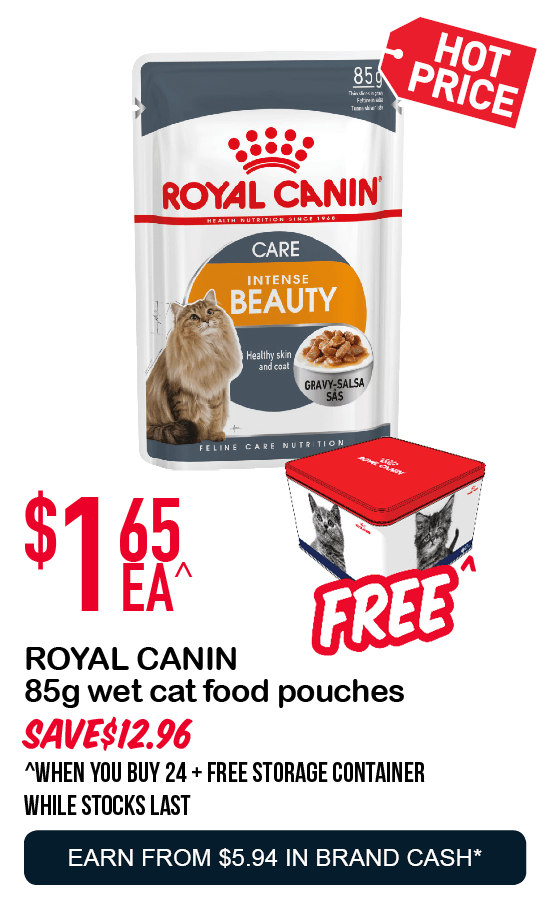 ROYAL CANIN  85g super premium wet cat food pouches  $1.65ea