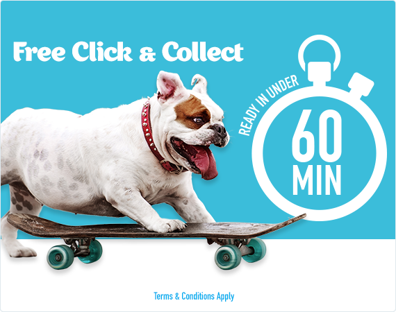 FREE Click & Collect - Ready in under 60 minutes