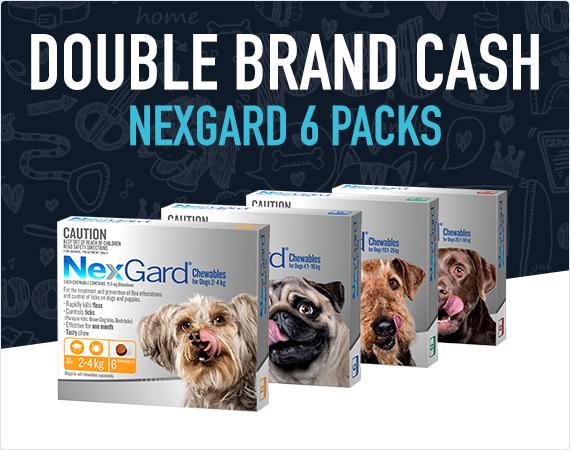 Double Brand Cash on Nexgard 6 packs