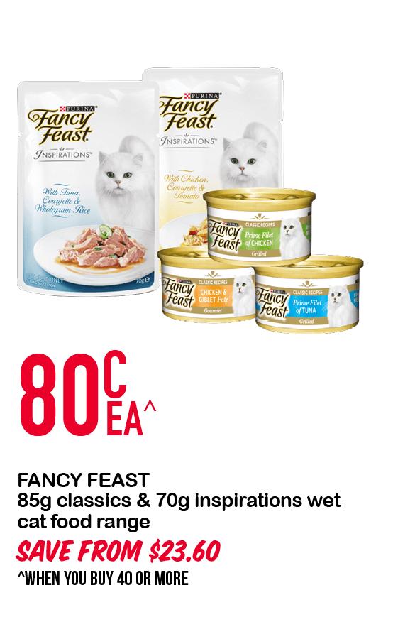 FANCY FEAST 85g classics & 70g inspirations wet cat food range 80cEA