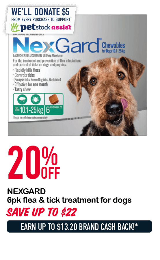 NEXGARD 6pk flea & tick treatment for dogs  20%OFF