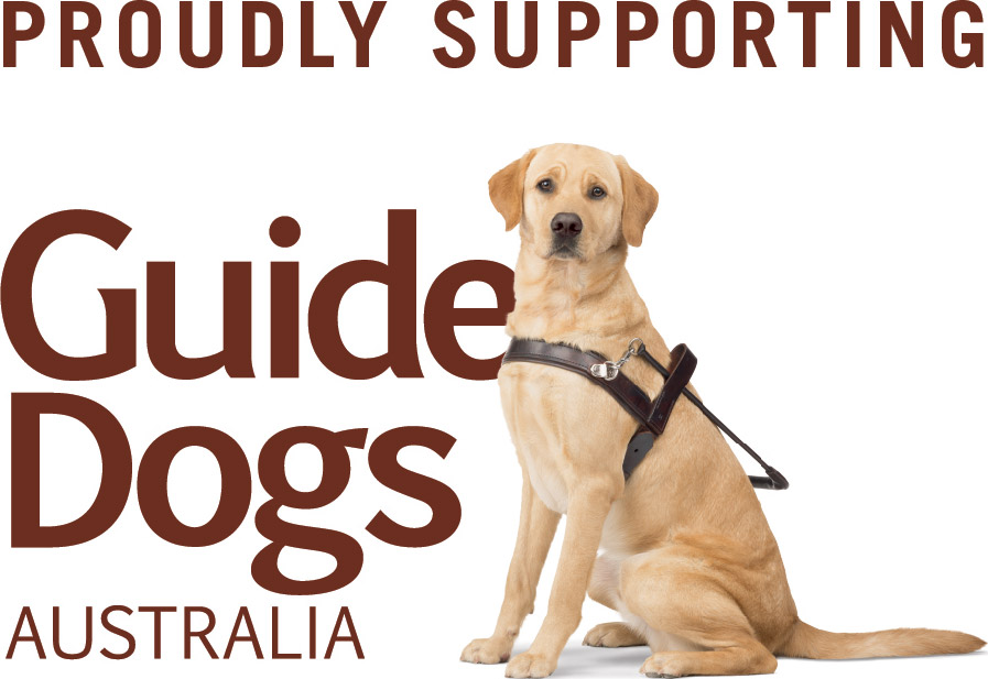 Proudly Supporting Guide Dogs Australia
