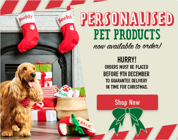 Personalised Pet Products now available to order! Hurry, orders must be placed before the 9th of December to ensure delivery by Christmas.