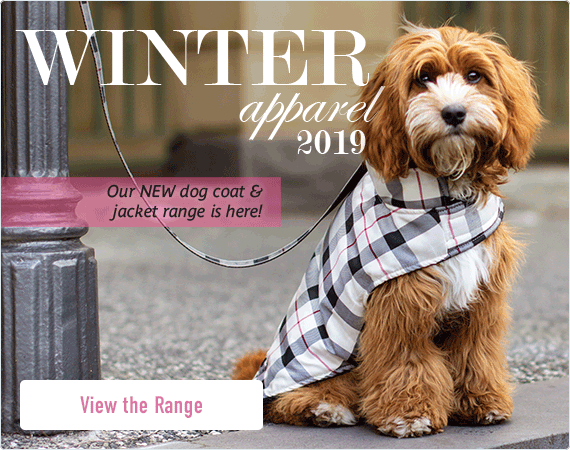 Winter Apparel 2019. Our NEW dog coat & jacket range is here - View the range