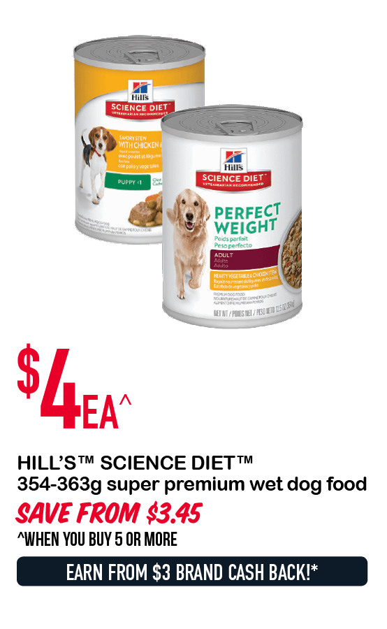 HILL'S™ SCIENCE DIET™ 354-363g super premium wet dog food $4ea