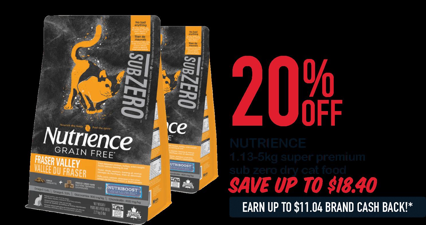NUTRIENCE 1.13-5kg super premium sub zero dry cat food 20%OFF