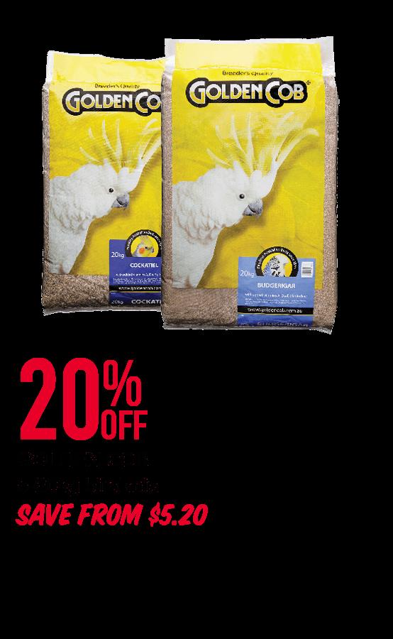 GOLDEN COB 5-20kg bird mix