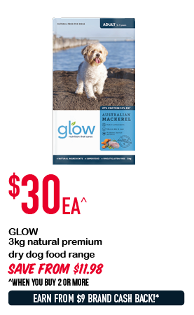 GLOW 3kg natural premium dry dog food range