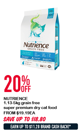 NUTRIENCE 1.13-5kg grain free super premium dry cat food