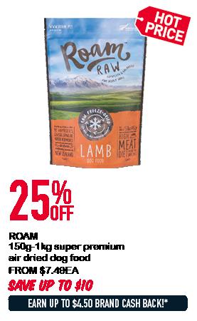 ROAM 150g-1kg super premium air dried dog food