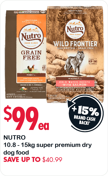 Nutro 10.8 - a5kg super premium dry dog food. Save up to $40.99