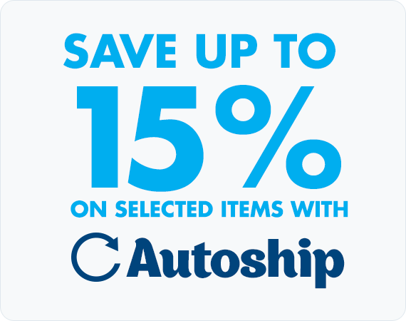 Save Up To 15% on selected items with Autoship