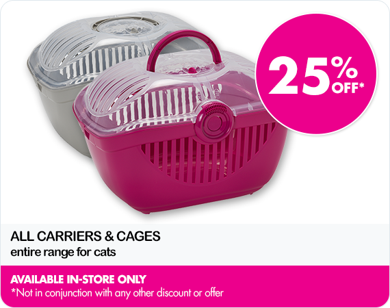 25% Off dog carriers