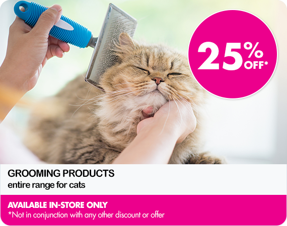 25% Off cat grooming products