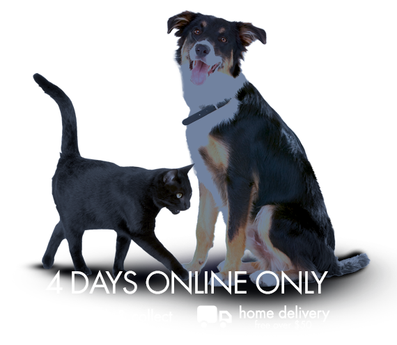 4 days online only, click and collect and free home delivery over $50
