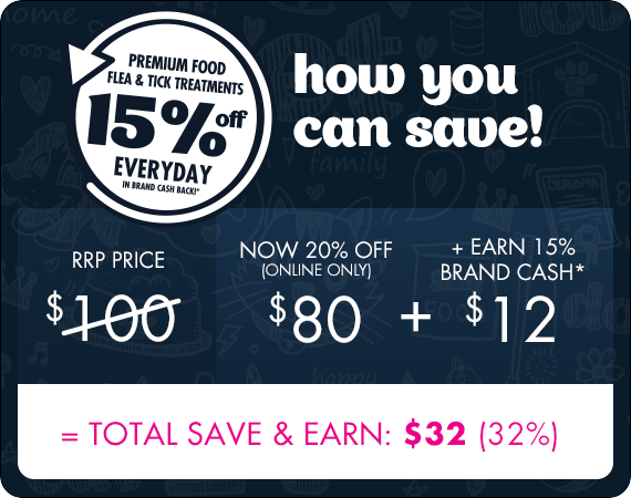 How you can save with Love Your Brand: $100 total save and earn = $32