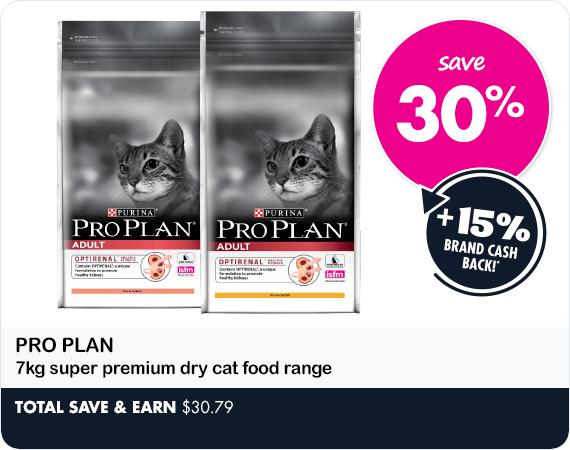 Pro Plan Selected 7kg super premium dry cat food range save 30%