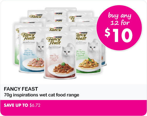Fancy Feast 70g Inspirations wet cat food range buy any 12 for $10