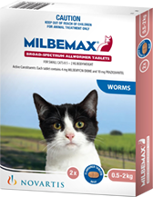 Milbemax Cat between 0.5 and 2kg - 2 Pack