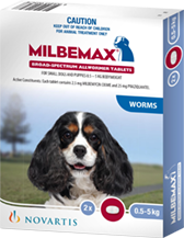 Milbemax Dog between 0.5 and 5kg - 2 Pack