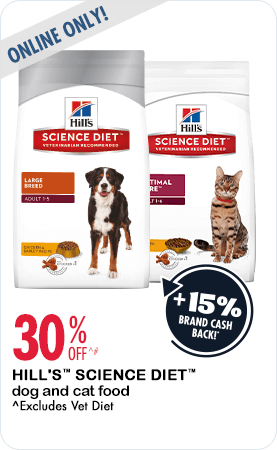 30% Off Hills Science Diet dog and cat food online only