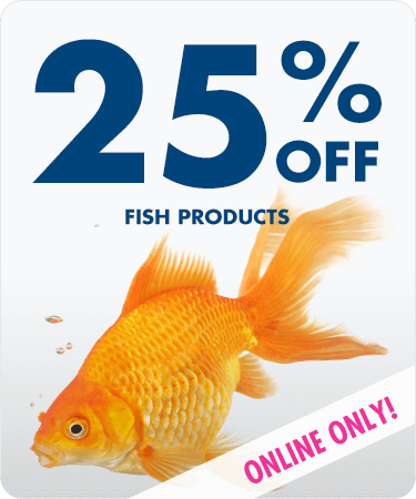 25% OFF all fish products