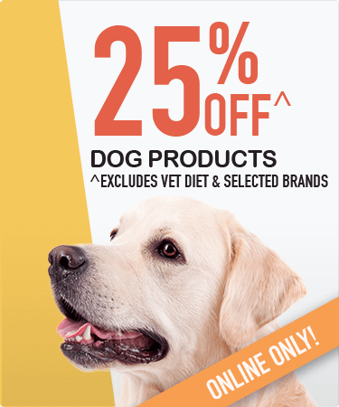 25% OFF all dog products^