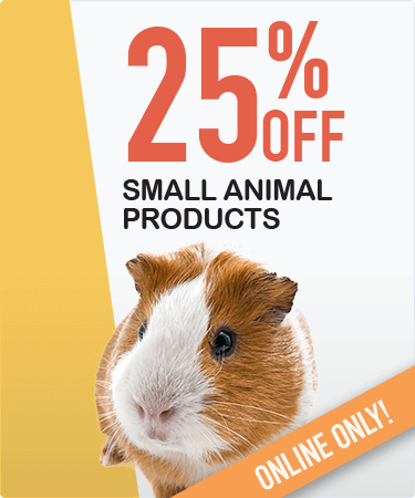 25% OFF all small animal products