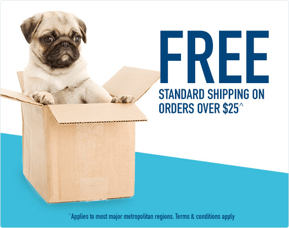 Free Standard Shipping for orders over $25 - terms and conditions apply