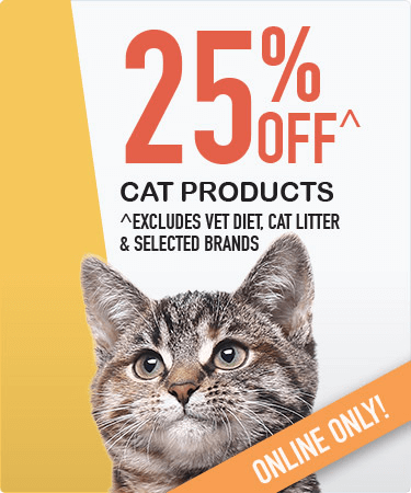 25% OFF all cat products^