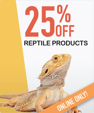 25% OFF all reptile products