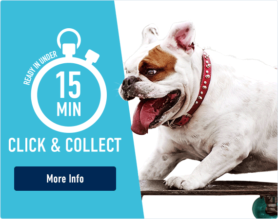 Click & Collect - ready in under 15 minutes! Click here to learn more.