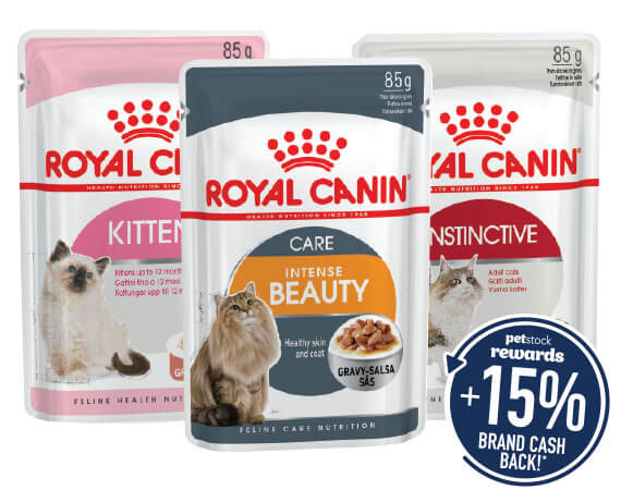 Royal Canin 85g Pouches. You earm from $3.32 Brand Cash Back!*