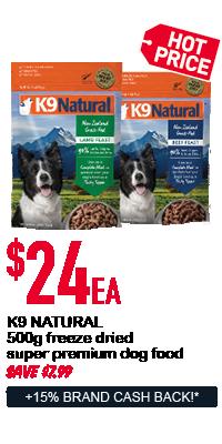 K9 Natural dog food - $24ea