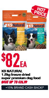K9 Natural dog food - $82ea