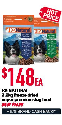 K9 Natural dog food - $148ea