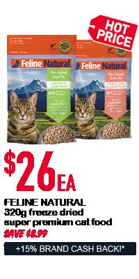 Feline Natural cat food - $26ea