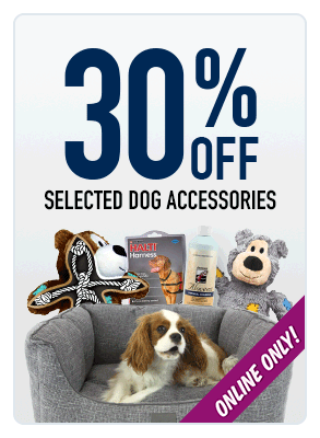 30% OFF dog products!